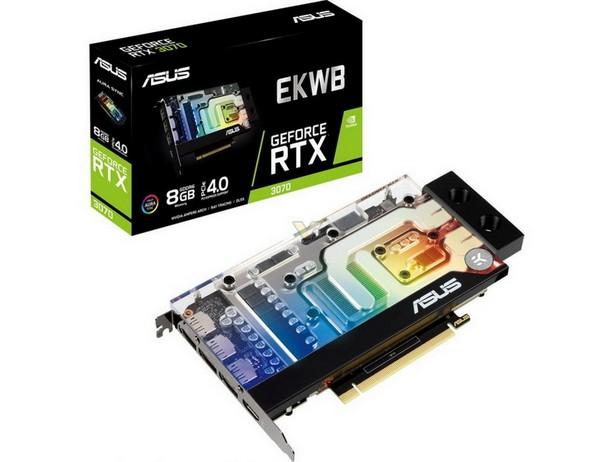 ASUS выпустила компактную видеокарту GeForce RTX 3070 с водоблоком от EKWB - hi-Tech.ua
