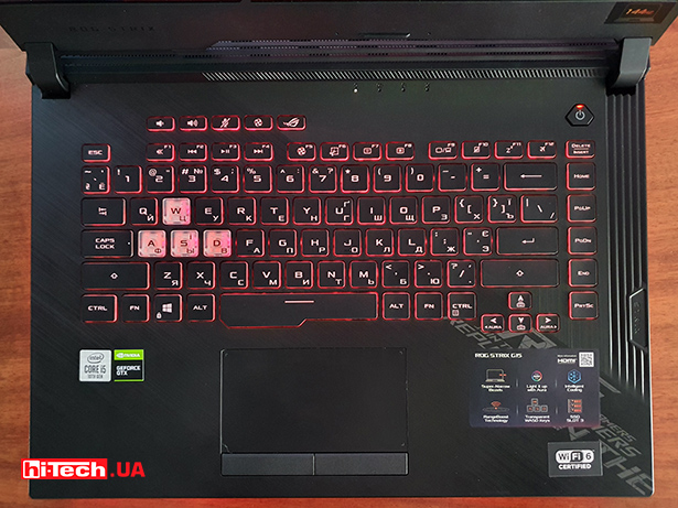 клавиатура ASUS ROG Strix G512LI