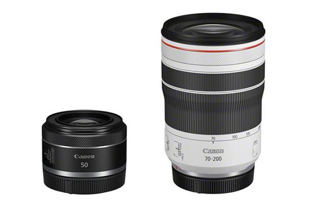 объективы Canon RF 70-200mm F4L IS USM и RF 50mm F1.8 STM