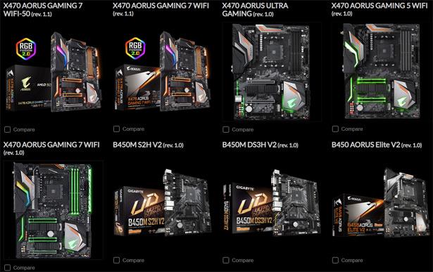Материнские платы Gigabyte X470/B450 с поддержкой AMD Ryzen 5000