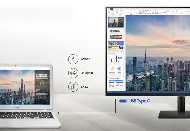 Из тройки новых мониторов подключение по USB-C есть только у Samsung 32M70A (серия M7)