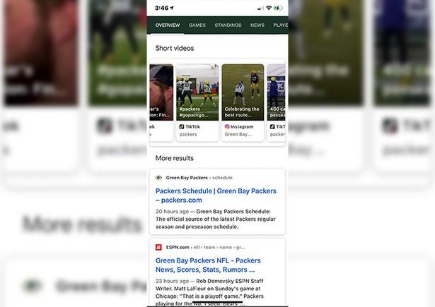 google results tiktok video