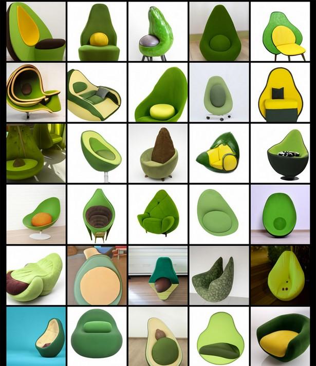 Кресло в форме авокадо