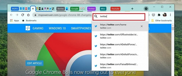 Google Chrome 88