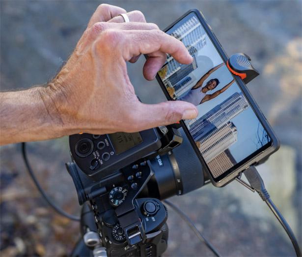 Камера Sony a1 со смартфоном Sony Xperia PRO в качестве внешнего монитора