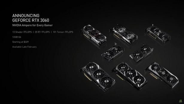 NVIDIA RTX 3060 specs