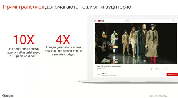 Google YouTube export stats