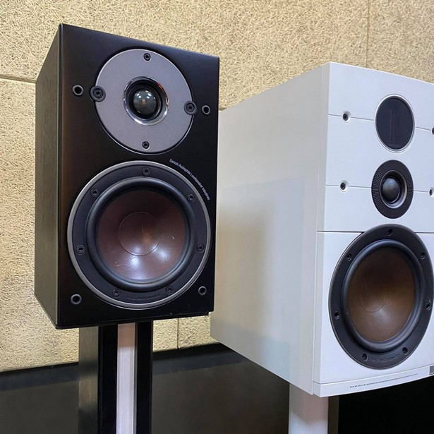 Слева - Oberon 1 C, а справа - акустика Callisto 2 C из старшей активной серии компании DALI