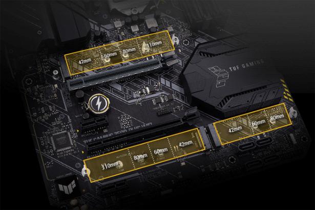 Накопители M.2 на плате ASUS TUF Gaming Z590-Plus WiFi