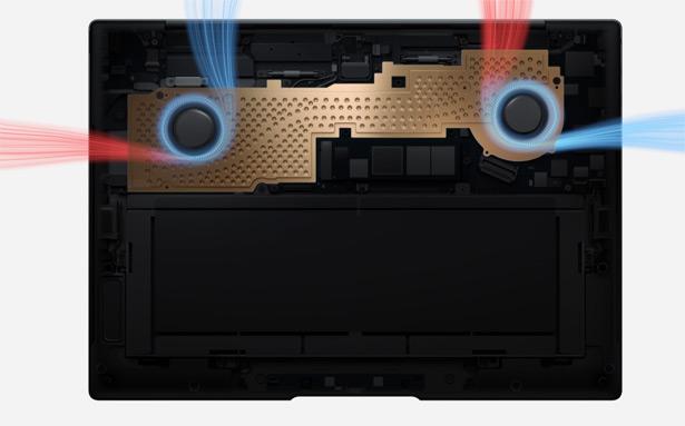 Система охлаждения Huawei MateBook X Pro (2021)