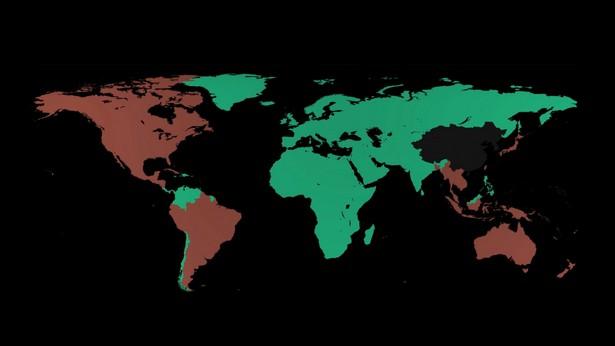 Карта присутствия Ajax: красным отмечены новые рынки