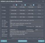 aida64 cache memory benchmark xmp 3200 other
