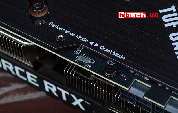 ASUS TUF Gaming GeForce RTX 3080 Ti OC переключатель BIOS