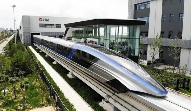 China magnetic train 6000 km per hour