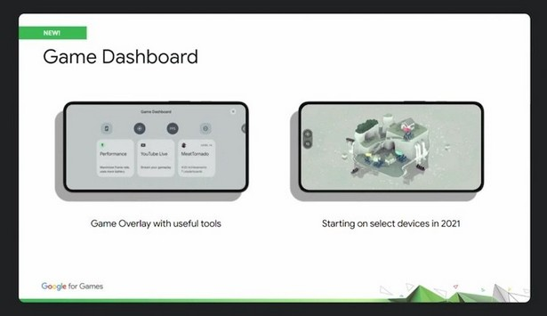 game dashboards android 12