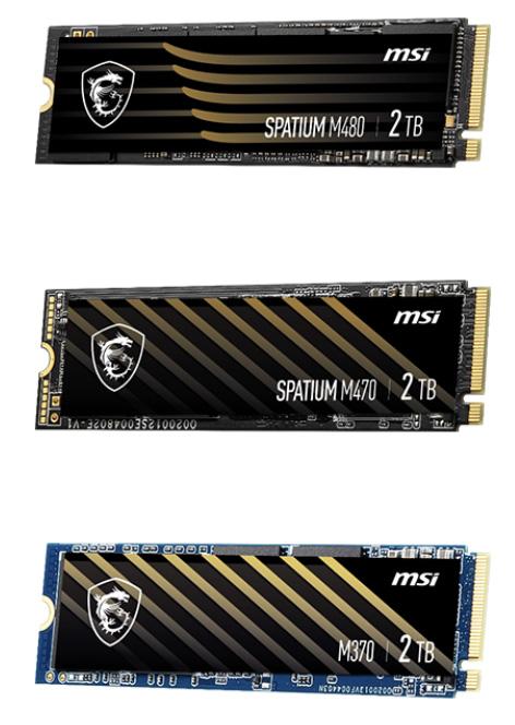 Накопители MSI Spatium M370, Spatium M470 и Spatium M480