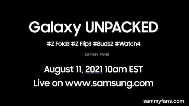 Samsung Galaxy Unpacked 11 aug 2021