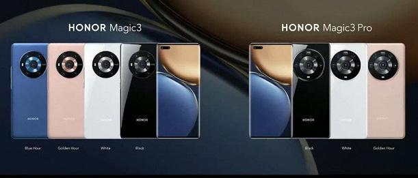 Honor Magic3, Magic3 Pro colors
