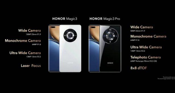 Honor Magic3 Pro cameras