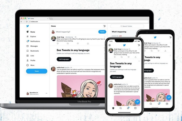 Twitter new design and logo 2021