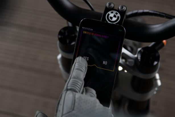 BMW Motorrad Vision AMBY, выбор скорости