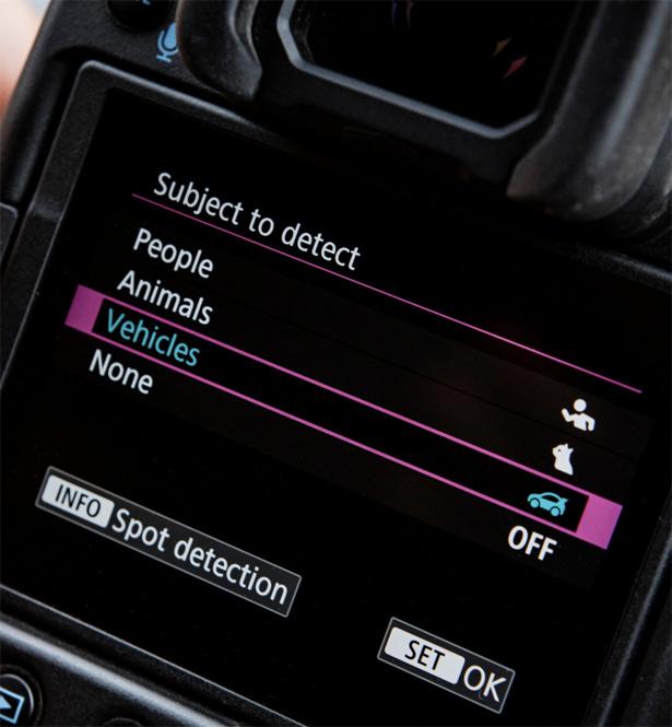 Выбор объекта при автофокусе в Canon EOS R3