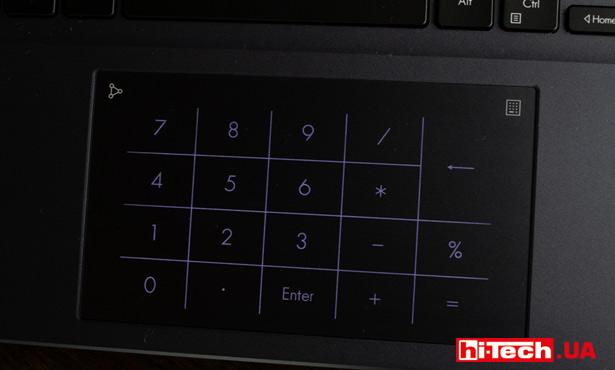 Вместо ASUS DialPad на тачпаде у ASUS Vivobook Pro 14 OLED можно включить цифровую клавиатуру ASUS NumberPad